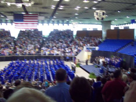 The seats were packed