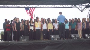 LHS Choraliers at Old Timers Day 2008